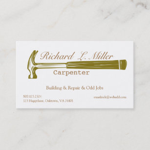 Carte De Visite Construction Charpentier Bricoleur