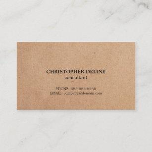 Carte De Visite Consultant En Matiere Elegant Simple Papier