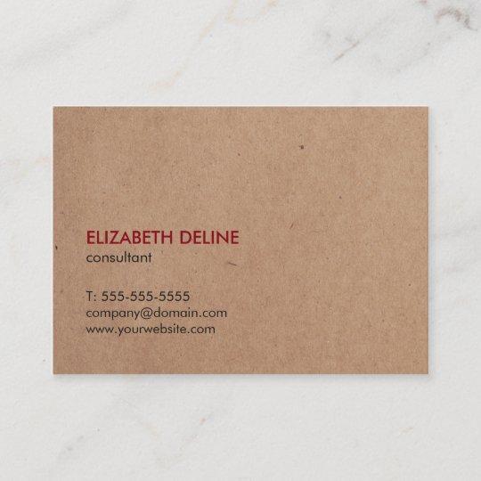 Carte De Visite Consultant En Matire Imprim Lgant Minimaliste