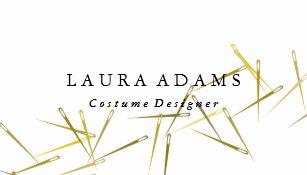 Carte De Visite Couturier Elegant Dor Du Blanc
