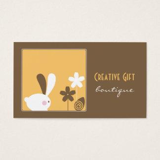 Carte de visite créatif de boutique de cadeau