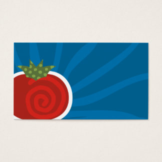 carte de visite culinaire de motif de tomate