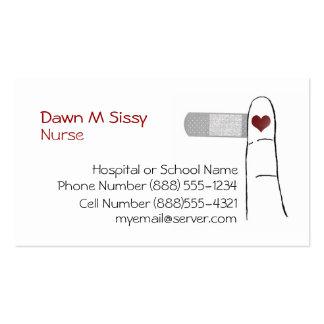 Carte de visite d infirmière ou de docteur Heart
