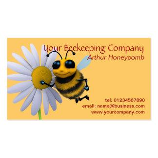 Carte de visite d'abeille d'apiculteur