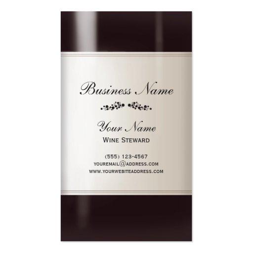 Carte de visite d'administrateur de vin