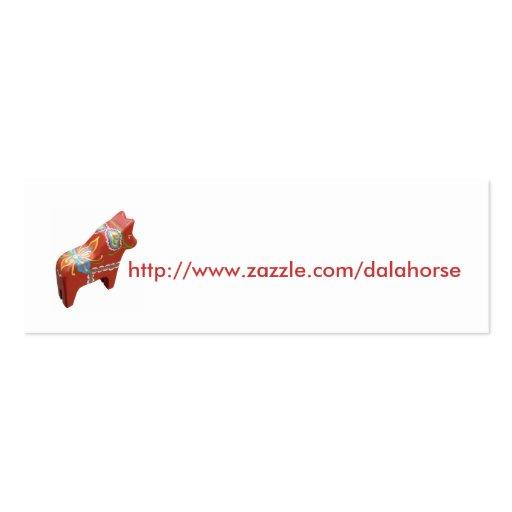 Carte de visite d'adresse internet