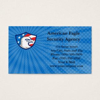 Carte de visite d'agence de sécurité d'Eagle