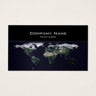 Carte de visite d'agence de voyages de carte du