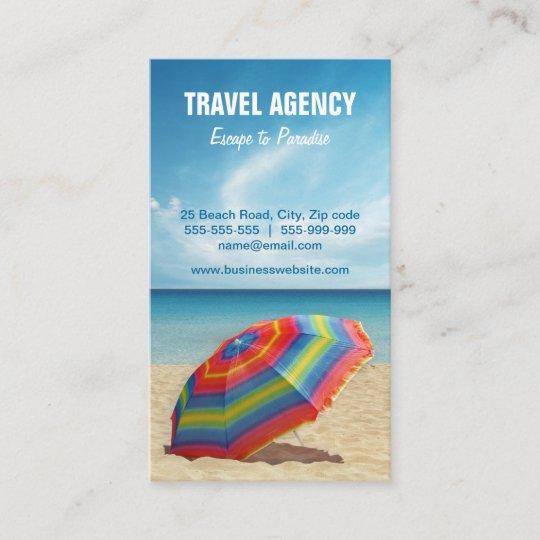 Carte De Visite Dagence Voyages Organisateur
