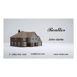 Carte de visite d'agent immobilier ou de commerce