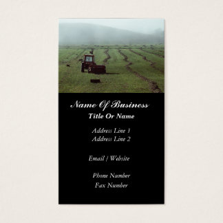 Carte de visite d'agriculture