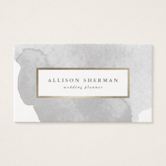 Carte de visite d'aluminium de faux d'aquarelle