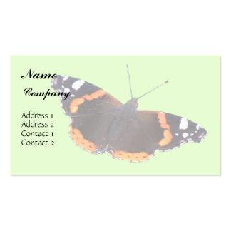 Carte de visite d'amiral rouge papillon