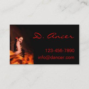 Carte De Visite Danseur Flamenco