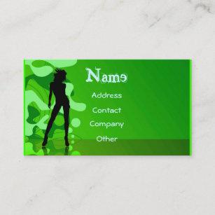 Carte De Visite Danseur En Vert