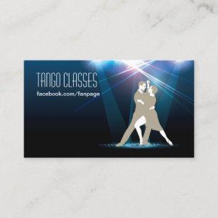 Carte De Visite Danseurs Salle Bal Dans Les Classes Tango