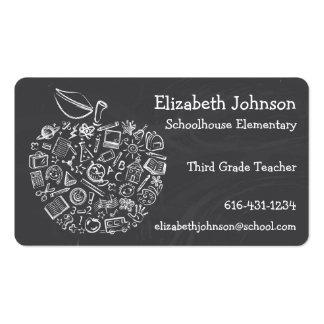 Carte de visite d'Apple de professeurs