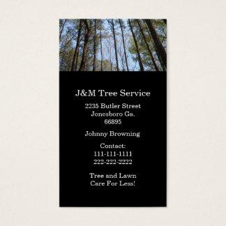Carte de visite d'arbre