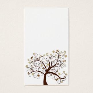 Carte de visite d'arbre d'automne