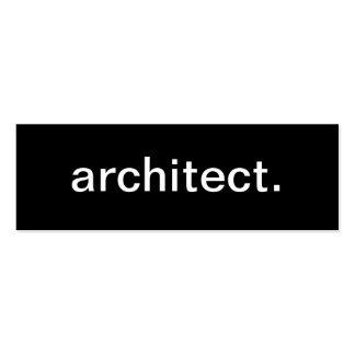 Carte de visite d'architecte