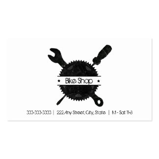 Carte de visite d'atelier de réparations de vélo