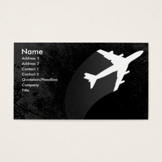 Carte de visite d'avion