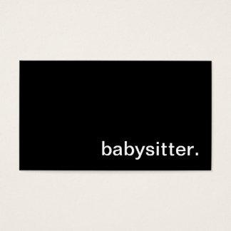 Carte de visite de babysitter