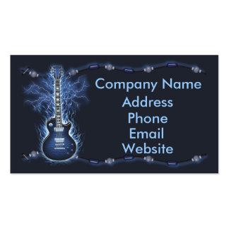 Carte de visite de balancier de guitare