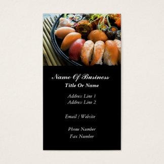 Carte de visite de bar à sushis