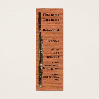 Carte de visite de basson