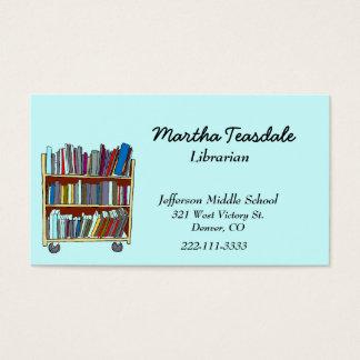 Carte de visite de bibliothécaire d'école
