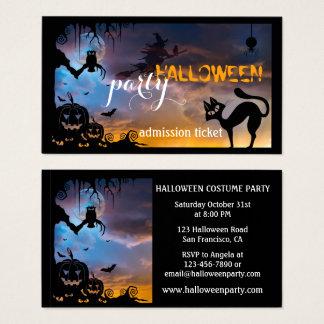 Cartes de visite soirées Halloween