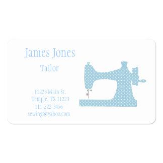 Carte de visite de bleu et blanc de machine à coud