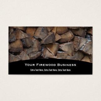 Carte de visite de bois de chauffage