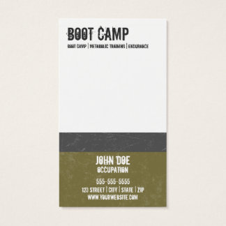 Carte de visite de Boot Camp
