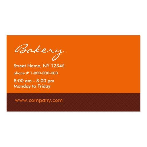Carte de visite de boulangerie