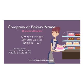 Carte de visite de boulangerie magasin de pâtisser