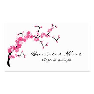 Carte de visite de branche d arbre de fleurs de ce