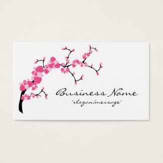 Carte de visite de branche d'arbre de fleurs de