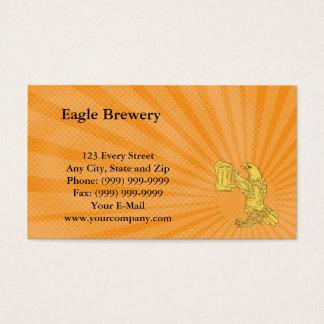 Carte de visite de brasserie d'Eagle