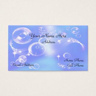 Carte de visite de bulles de savon d'amusement