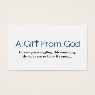 Carte de visite de cadeau de dieux