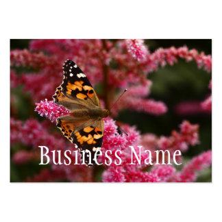 Carte de visite de cadre de Tryptych de papillon
