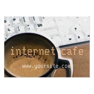 Carte de visite de café d'Internet