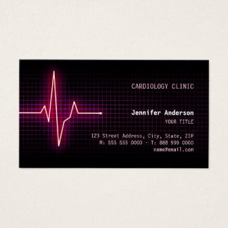 Carte de visite de cardiologie de battement de