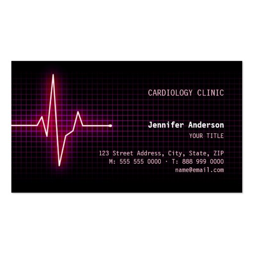 Carte de visite de cardiologie de battement de coe