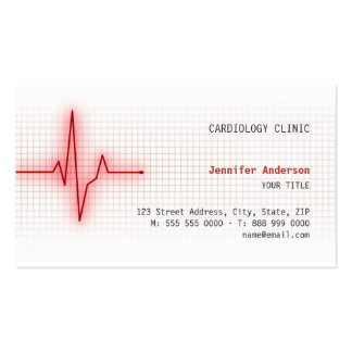 Carte de visite de cardiologie de signal de coeur