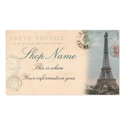 Carte de visite de carte postale de Paris