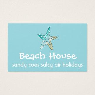 Carte de visite de Chambre de plage