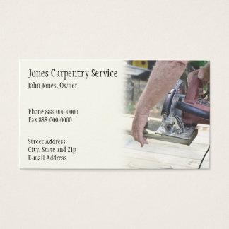 Carte de visite de charpentier